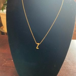 Cute Letter Z Initial Necklace!
